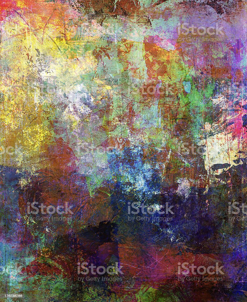 mixed media artwork royalty-free stock vector art