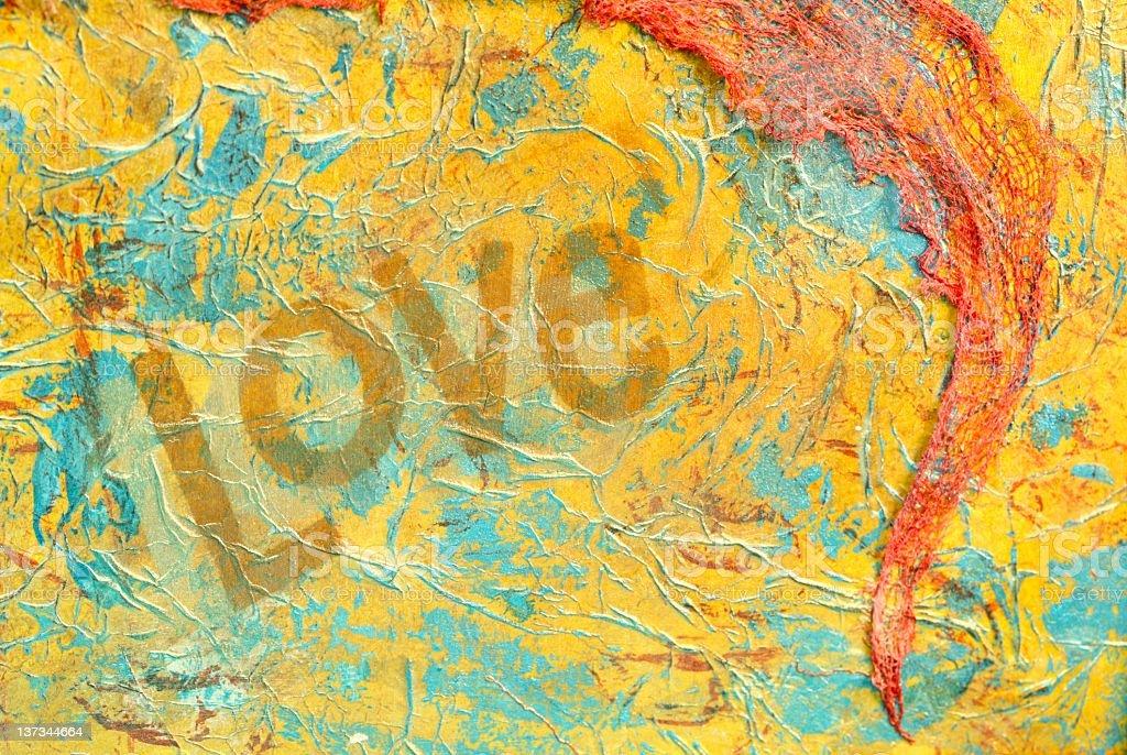 Mixed Media Love Art royalty-free stock vector art