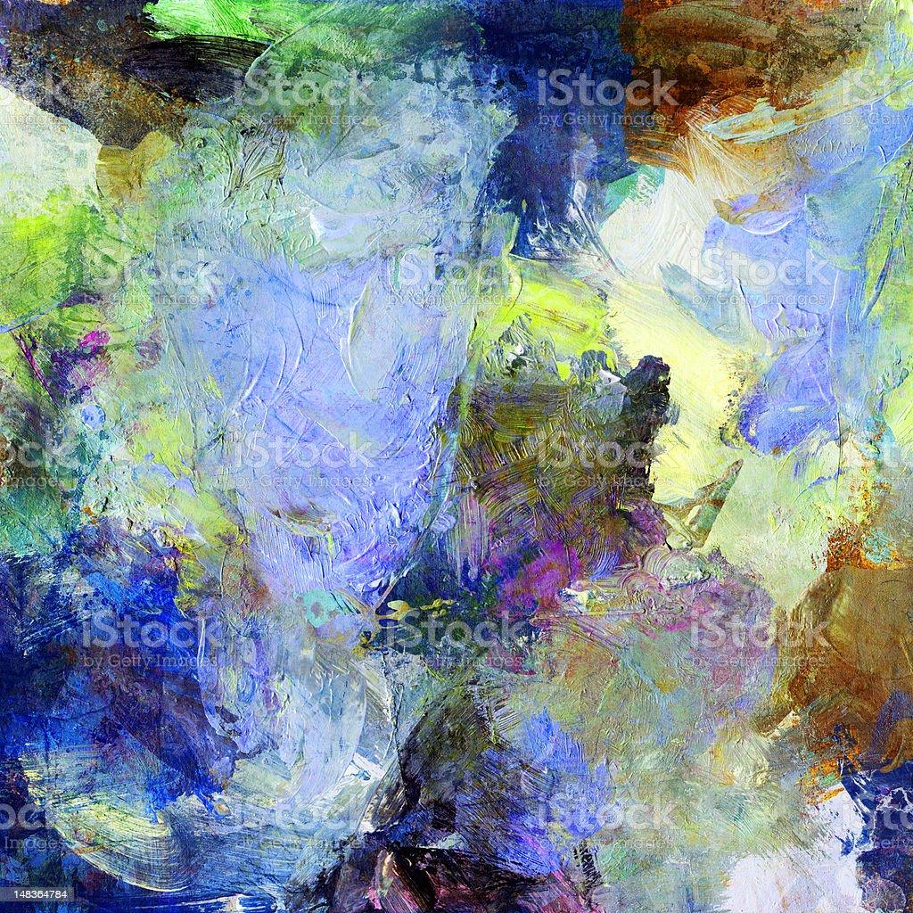 mixed media painting royalty-free stock vector art