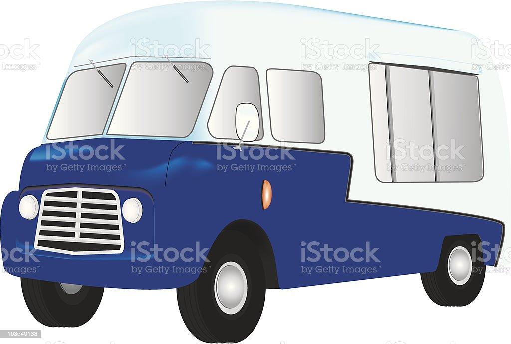 Mobile Catering Van vector art illustration