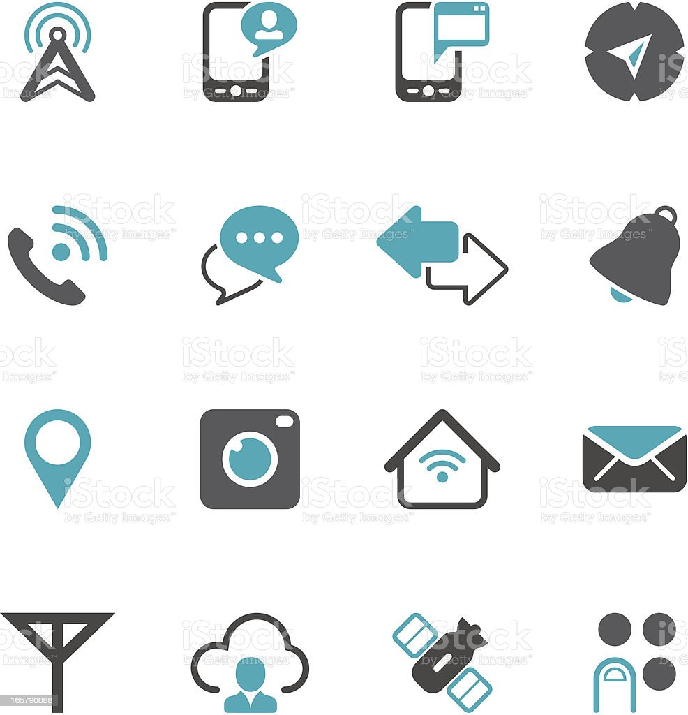 Mobile Icon Set | Concise Series vector art illustration
