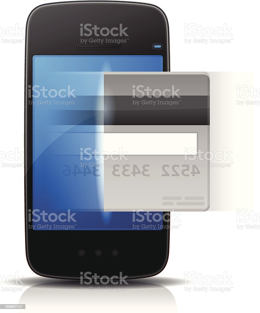 Mobile Payment royalty-free stock vector art