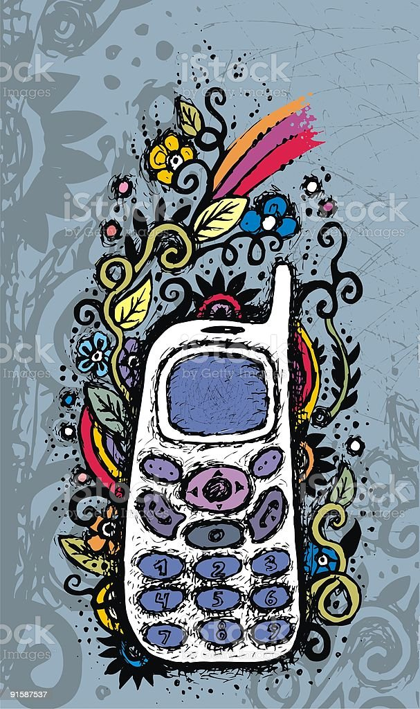 Mobile phone. royalty-free stock vector art