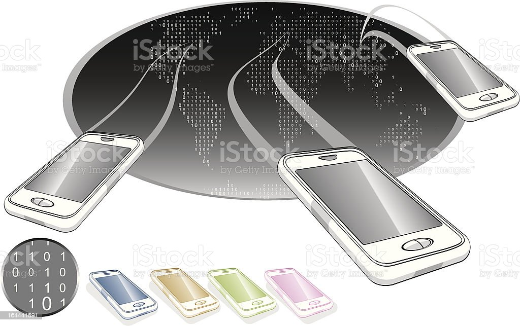 mobile world royalty-free stock vector art
