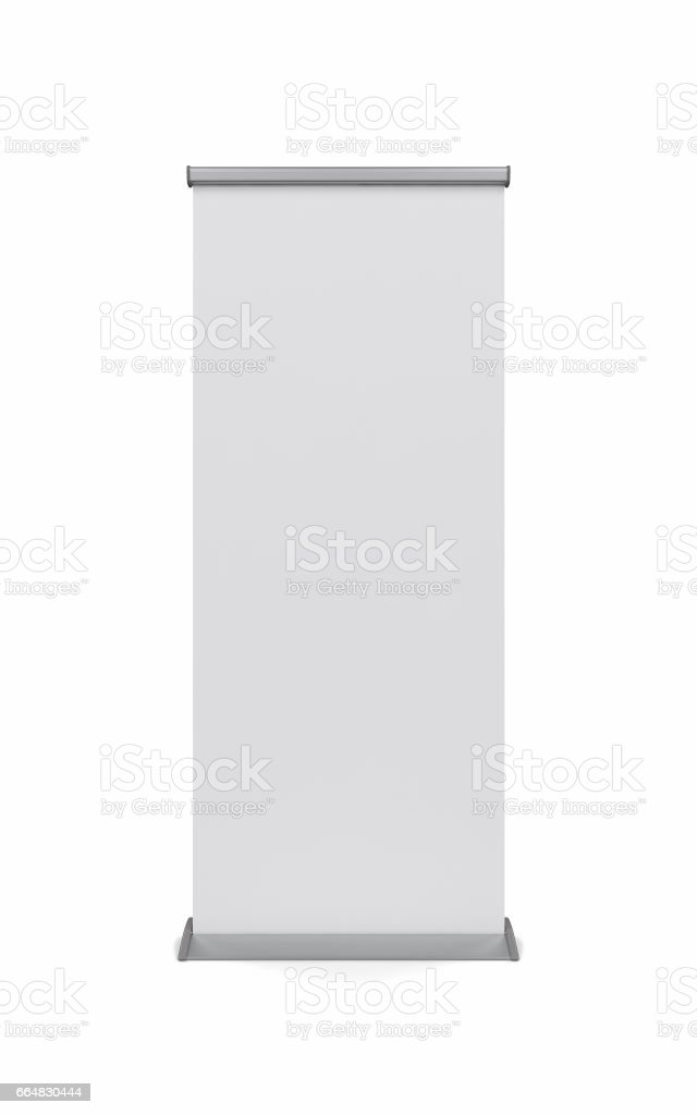 Mock up of realistic roller banner stock photo