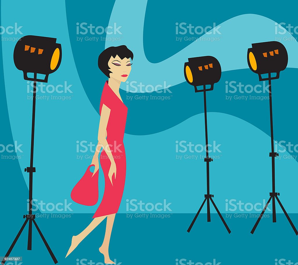 Model on set royalty-free stock vector art