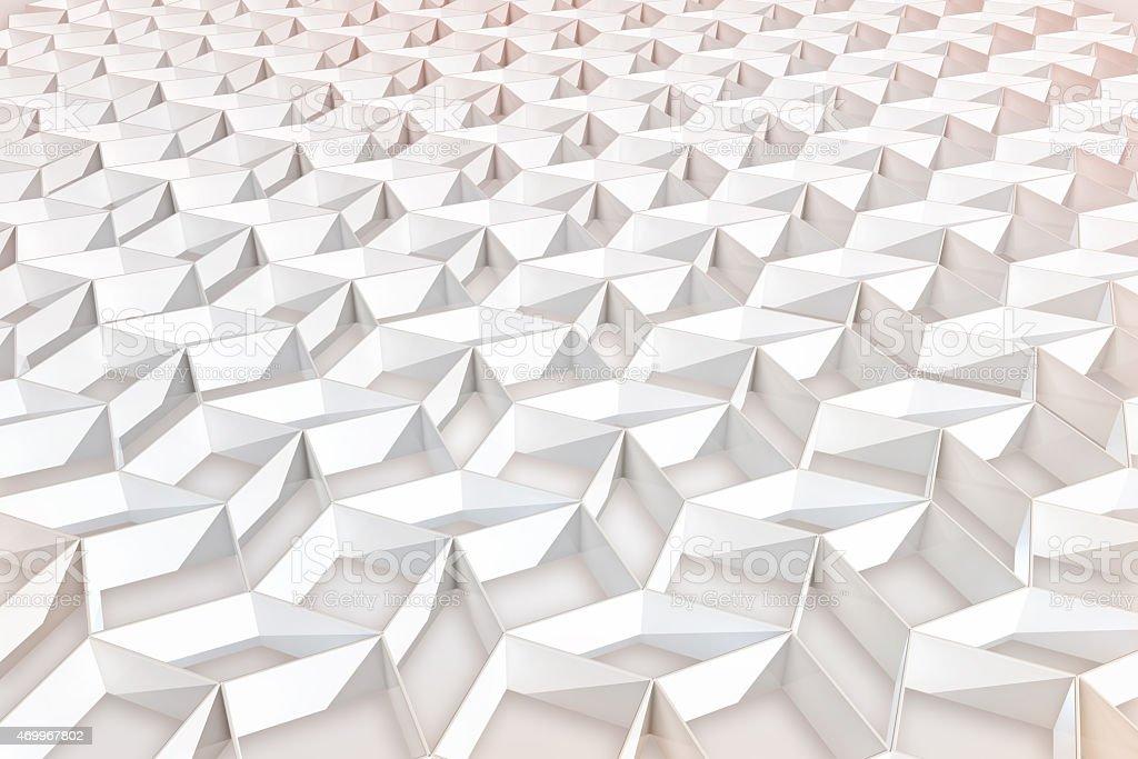 Modern architecture 3D pattern background vector art illustration