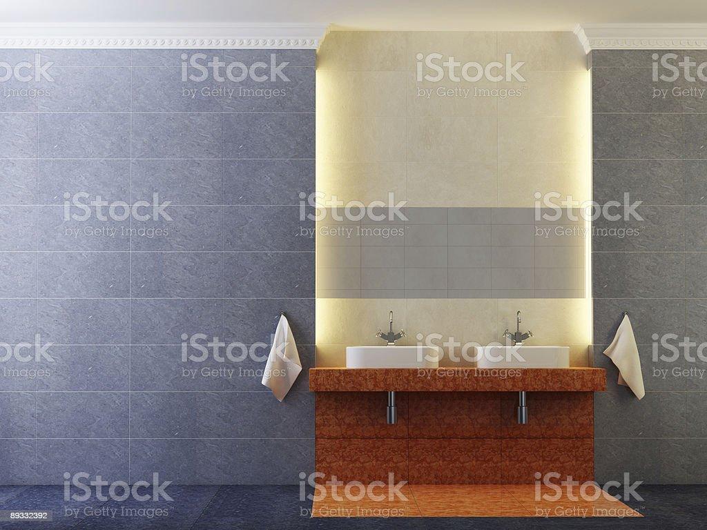 modern bathroom interior royalty-free stock vector art