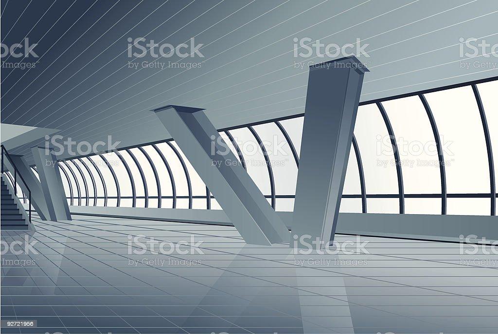 modern building interior royalty-free stock vector art