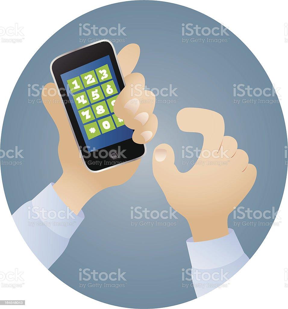 Modern Cellphone Cartoon vector art illustration
