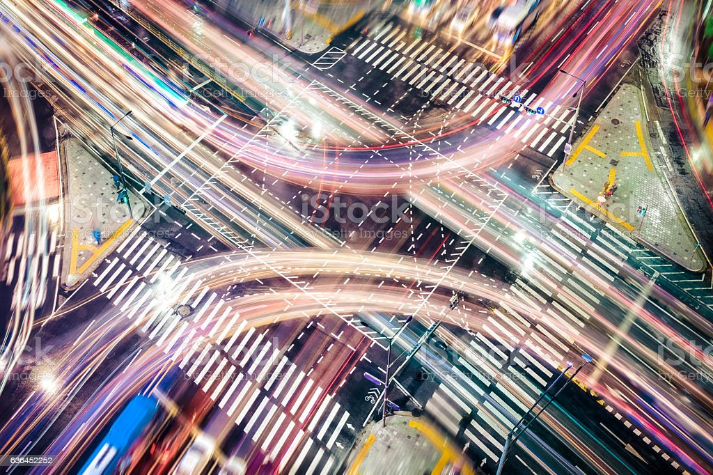 Modern City Concepts: intersection stock photo