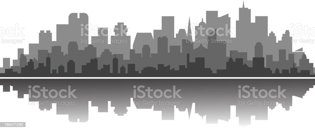 Modern city silhouette royalty-free stock vector art