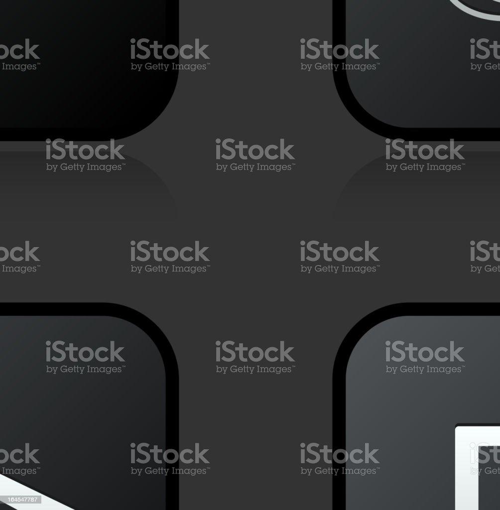 Modern consumer electronics royalty free vector icon set royalty-free stock vector art