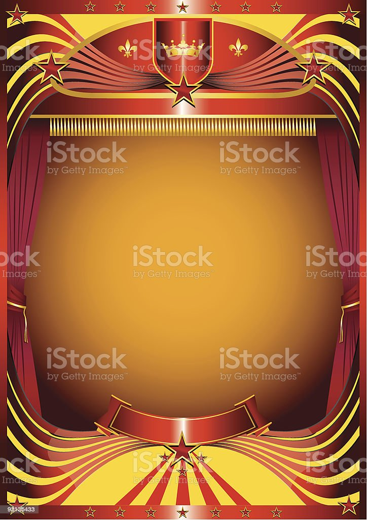 Modern curtain royalty-free stock vector art