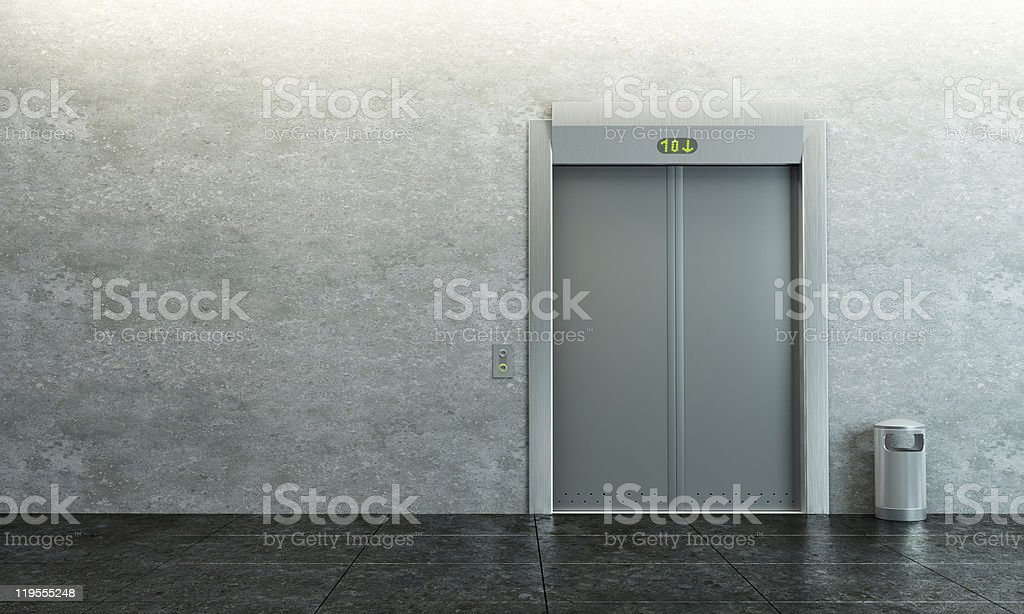 modern elevator vector art illustration