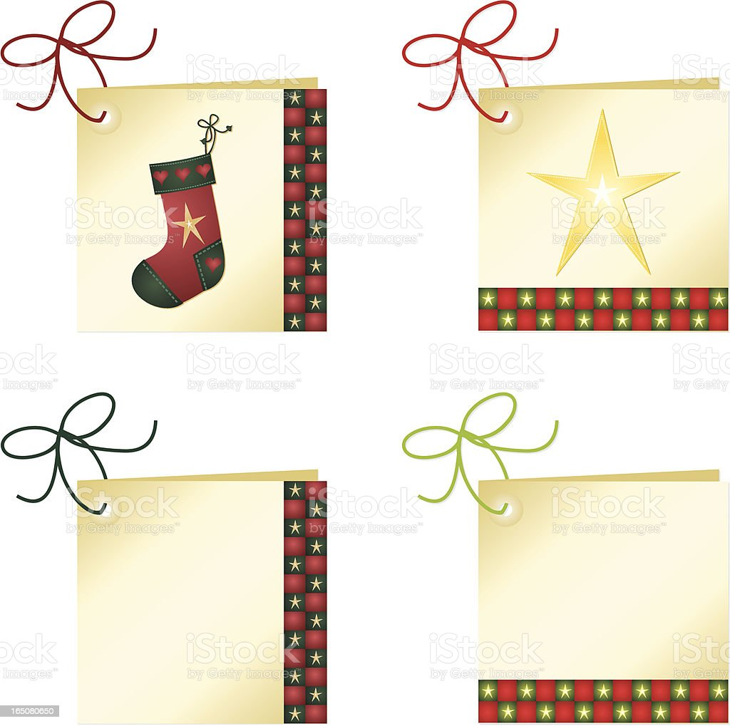 Modern Gift Tags royalty-free stock vector art
