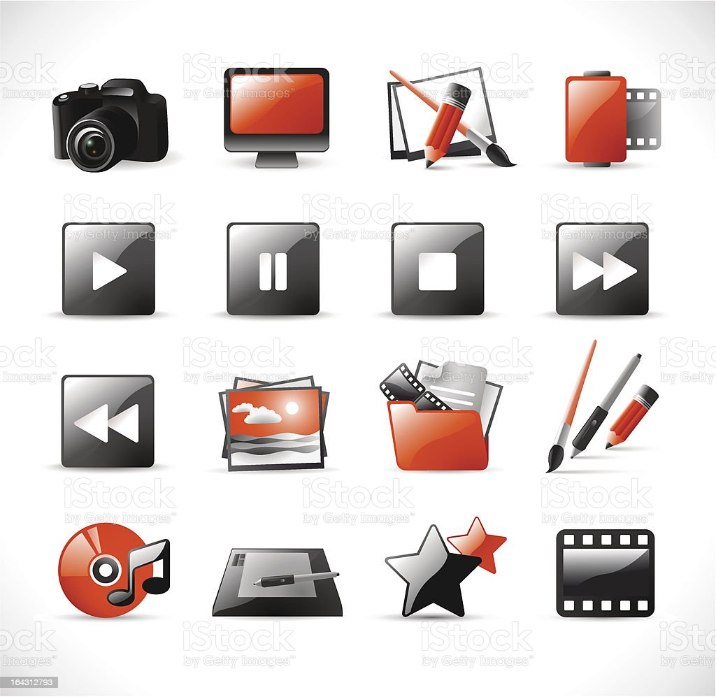 modern glossy web icons [4] royalty-free stock vector art
