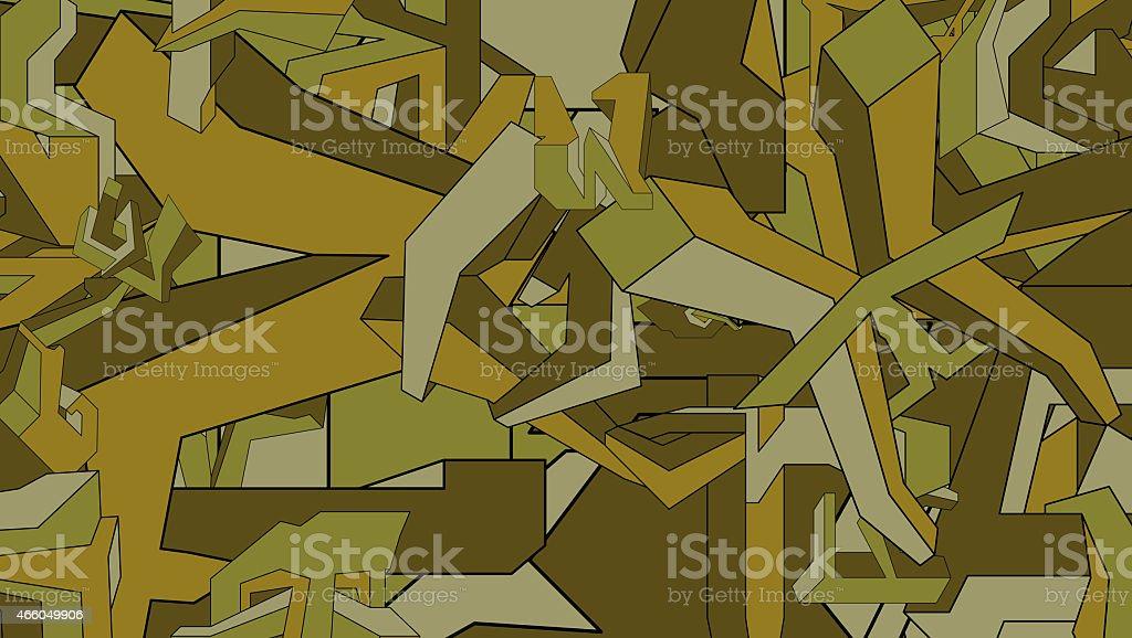Modern green camouflage pattern vector art illustration