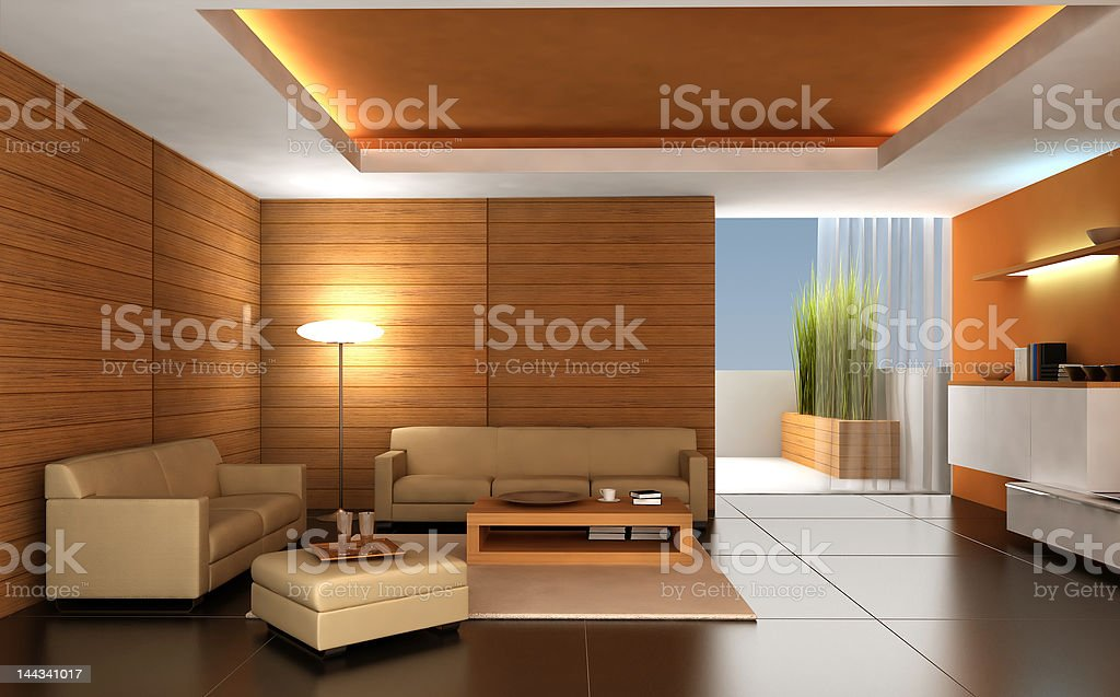 modern interior royalty-free stock vector art