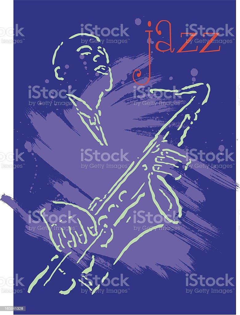 Modern Jazz Poster Shell royalty-free stock vector art