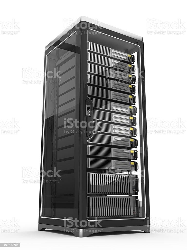 Modern Server rack royalty-free stock vector art