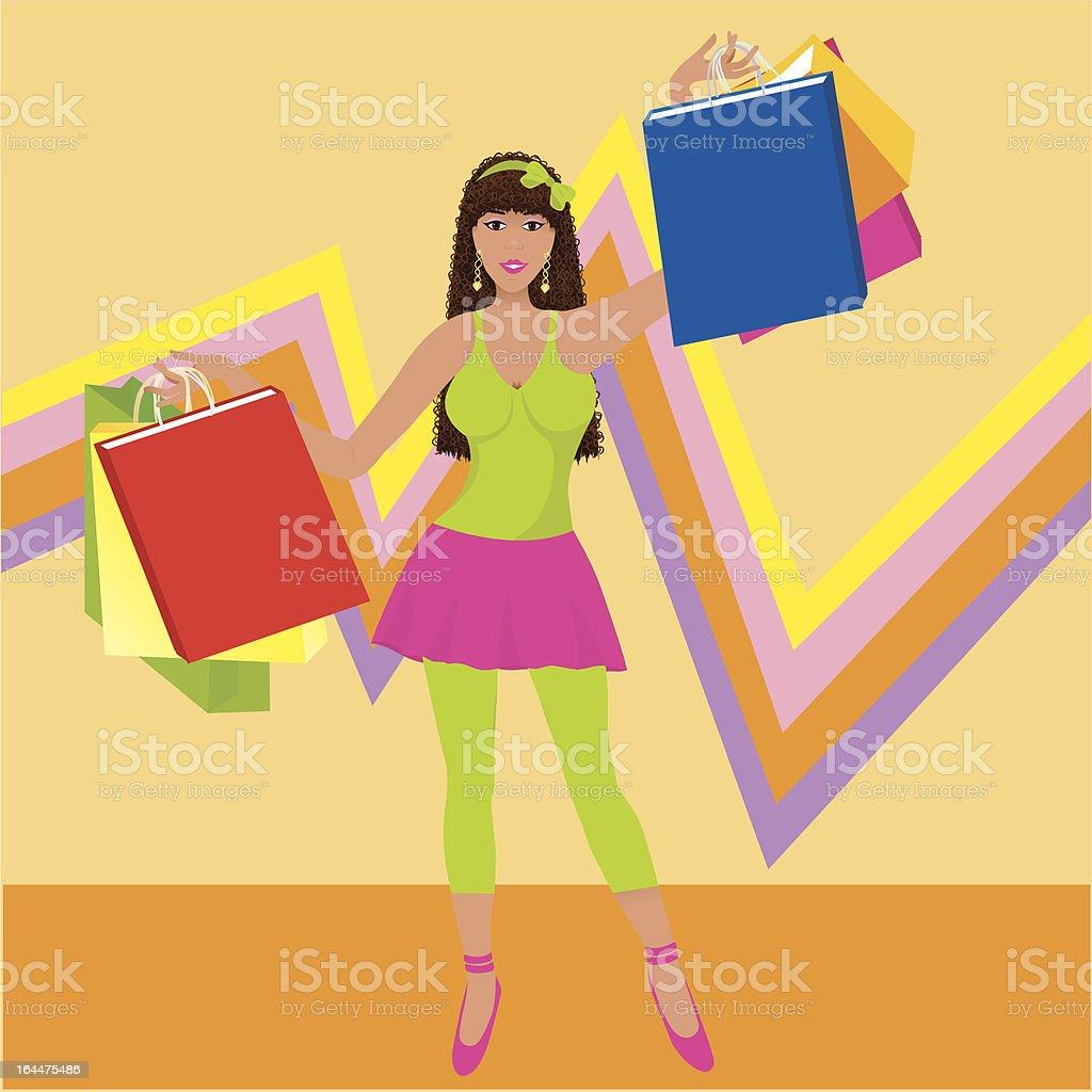 Modern Shopper royalty-free stock vector art