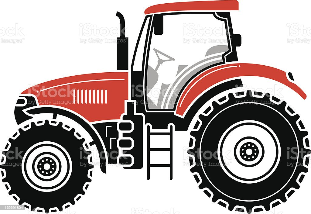 Modern tractor royalty-free stock vector art