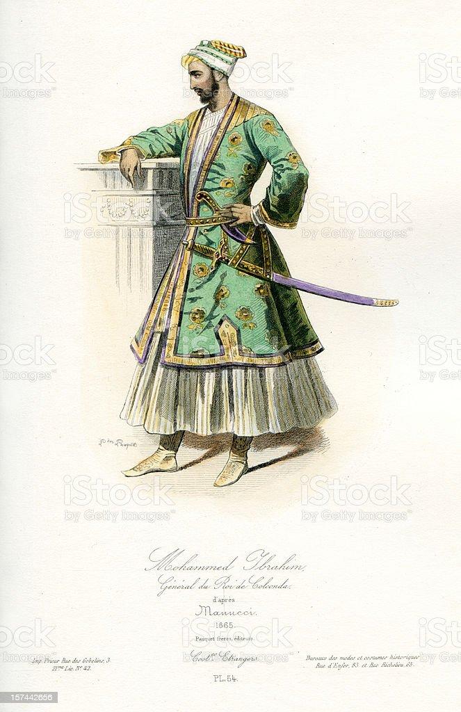 Mohammed Ibrahim Mughal Emperor royalty-free stock vector art