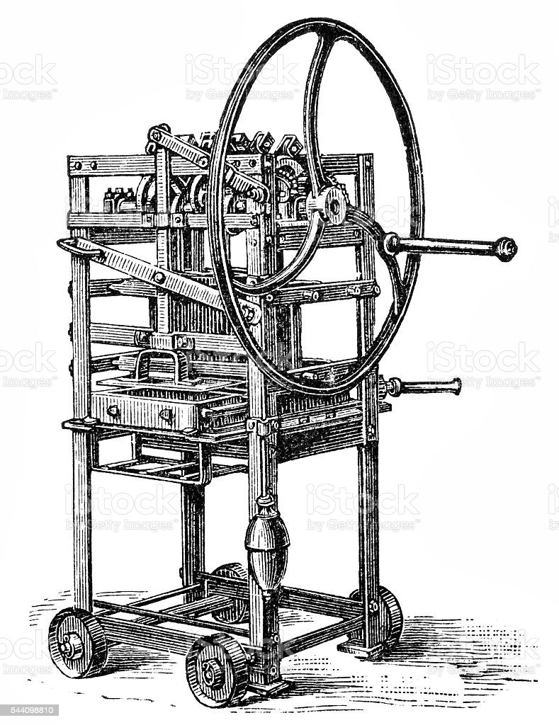Mold machine vector art illustration
