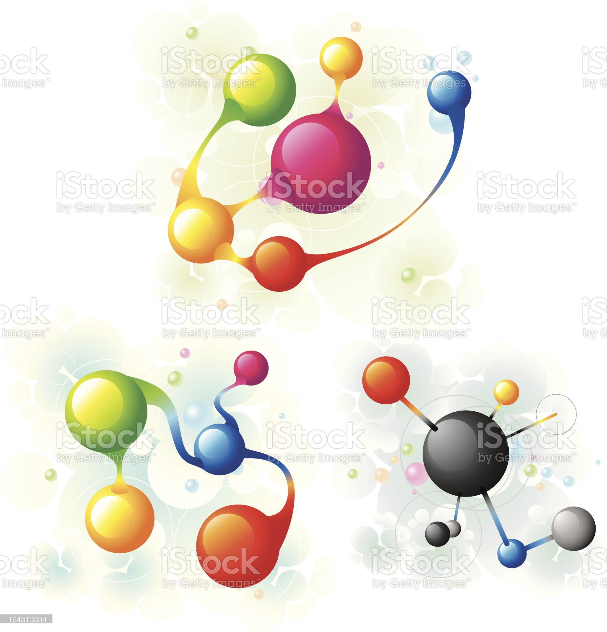 molecule set3 royalty-free stock vector art