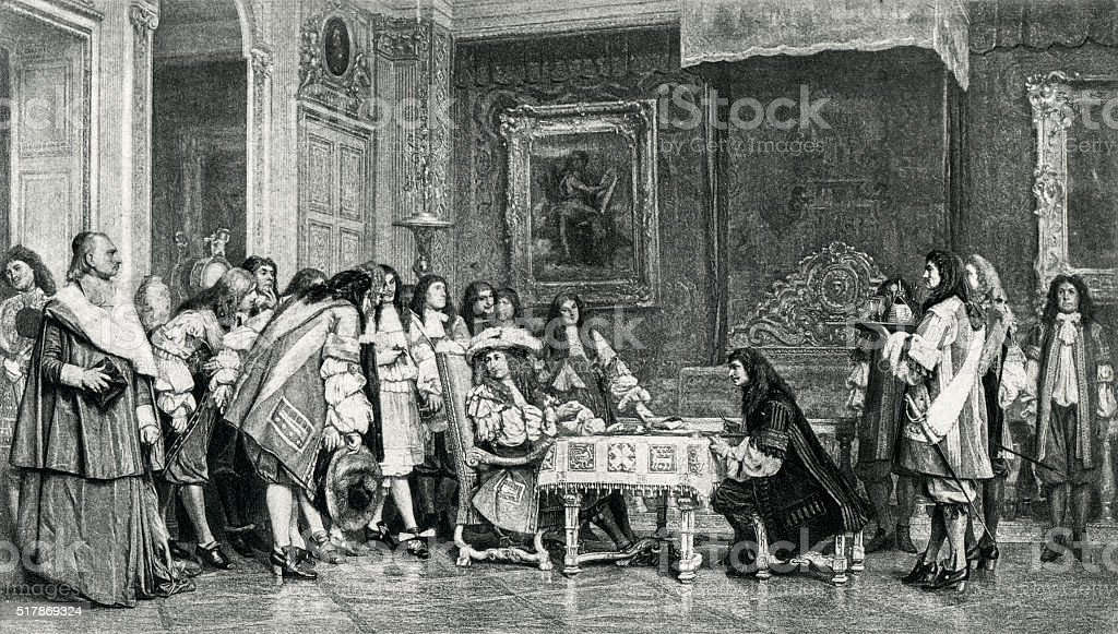 Moliere And Louis XIV At Breakfast stock photo