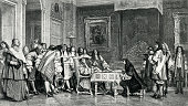 Moliere And Louis XIV At Breakfast