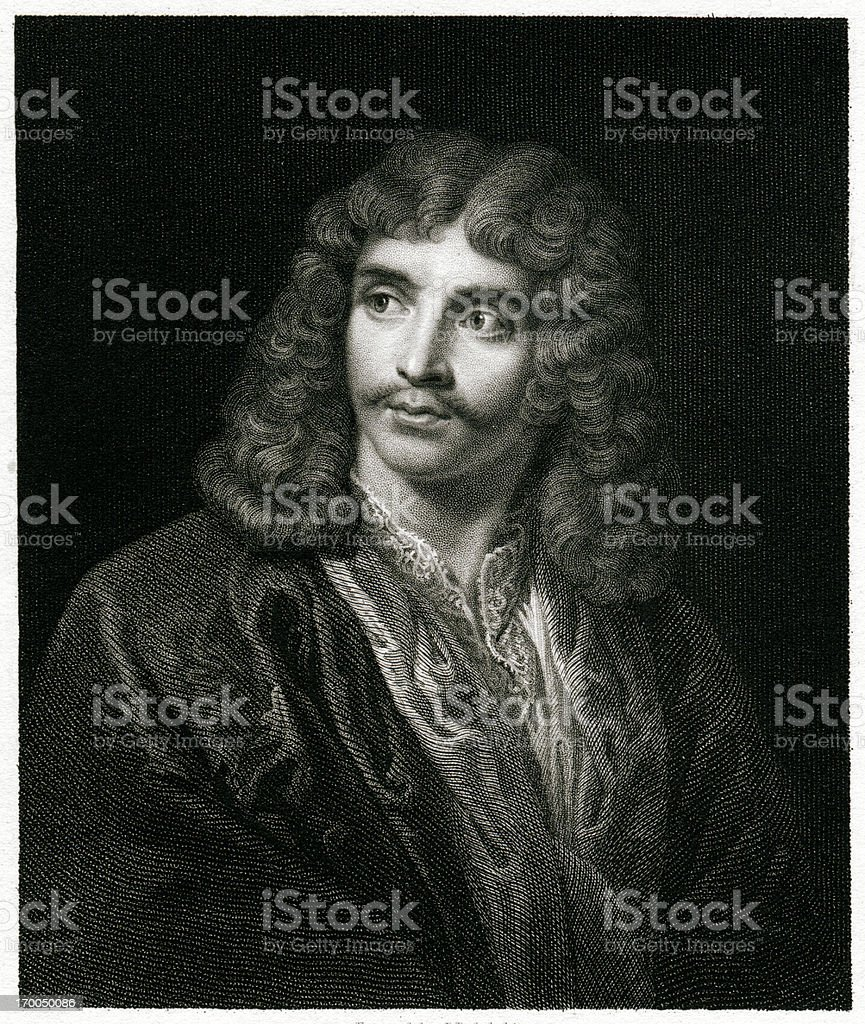 Moliere royalty-free stock vector art