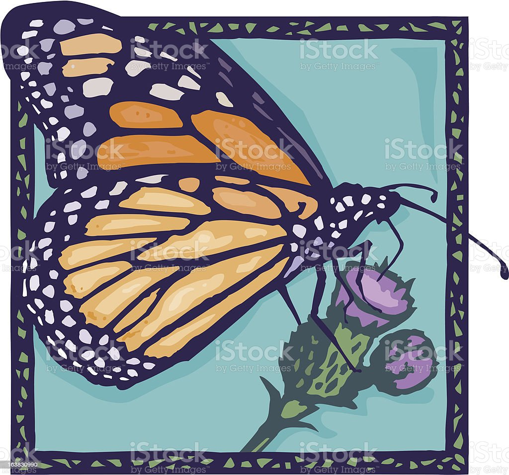 Monarch Butterfly vector art illustration