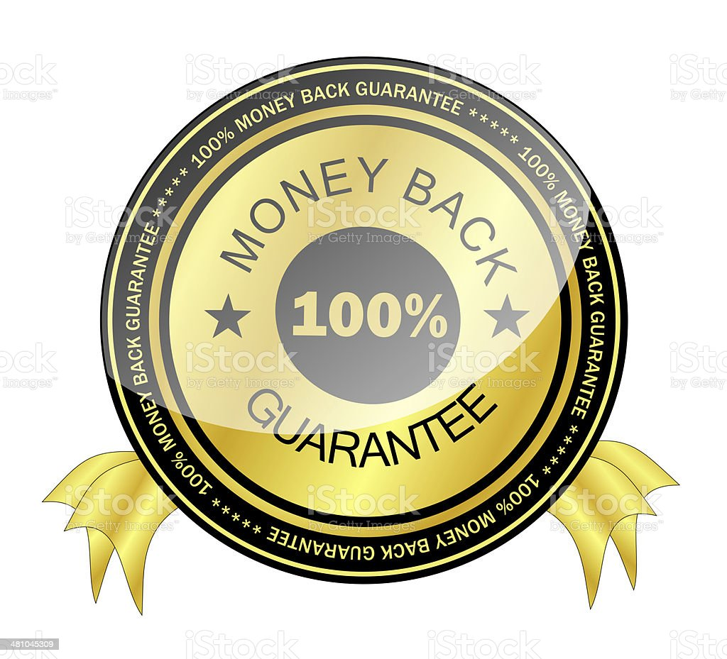 Money Back Guarantee Badge royalty-free stock vector art