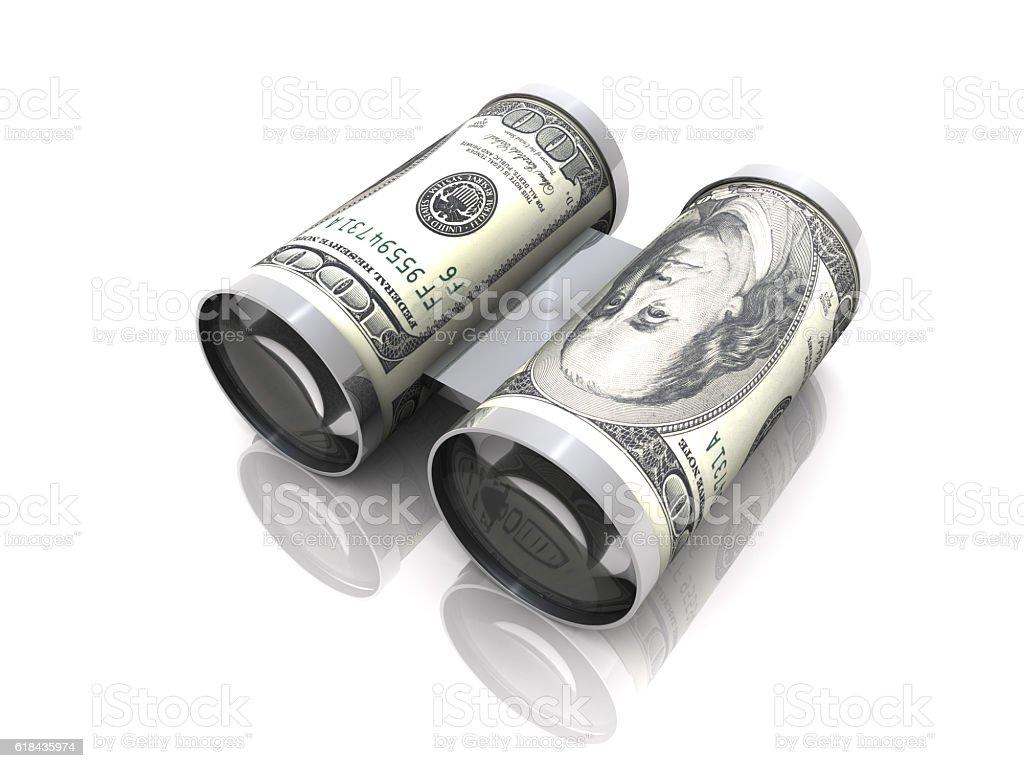 Money Binocular vector art illustration
