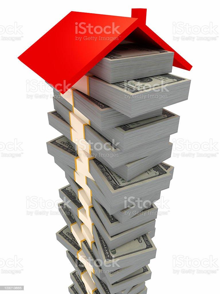 Money for House. royalty-free stock vector art