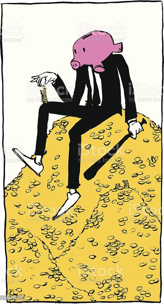 Money Hoard royalty-free stock vector art