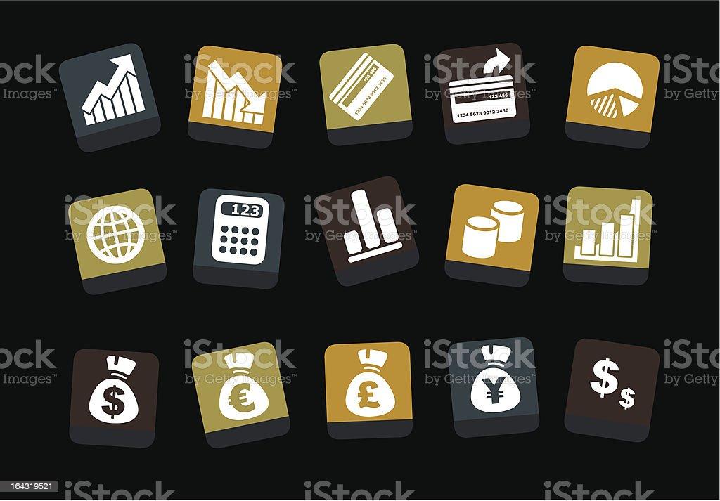 Money icon set royalty-free stock vector art