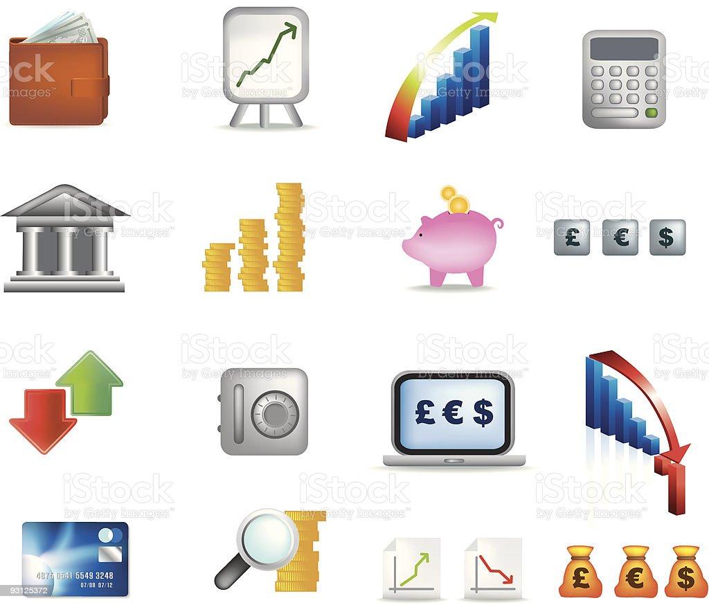 Geld-icon-set Lizenzfreies vektor illustration
