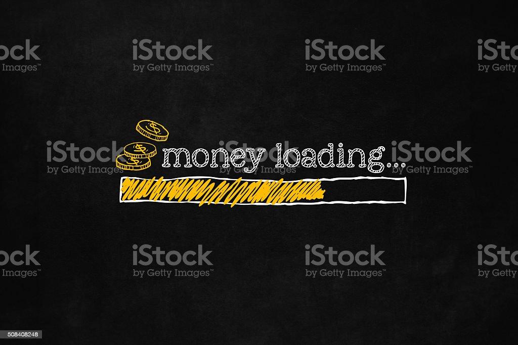 Money loading bar vector art illustration