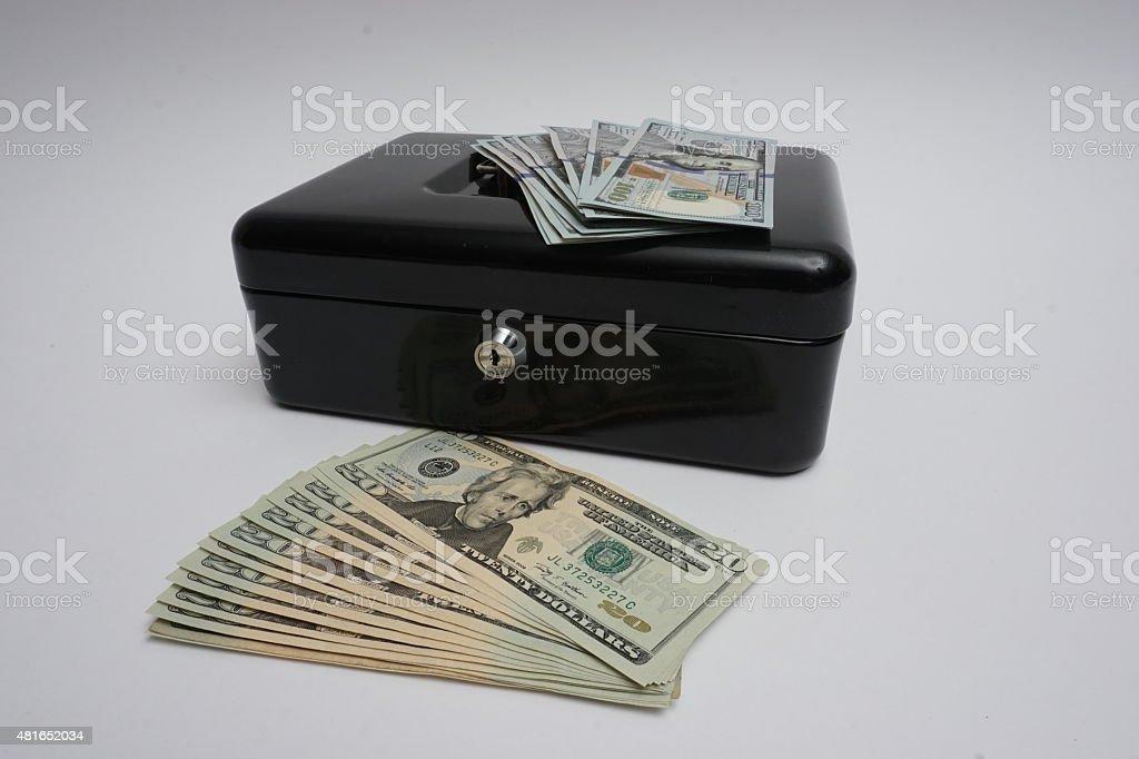 money safe vector art illustration