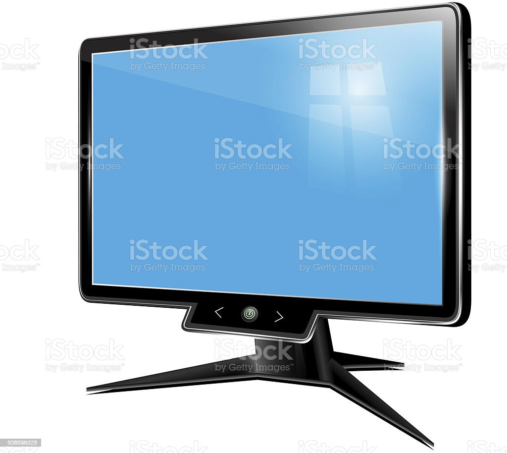 Monitor, computer display, lcd, tv on a white background royalty-free stock vector art