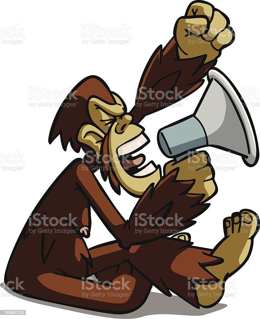 Monkey Speak royalty-free stock vector art