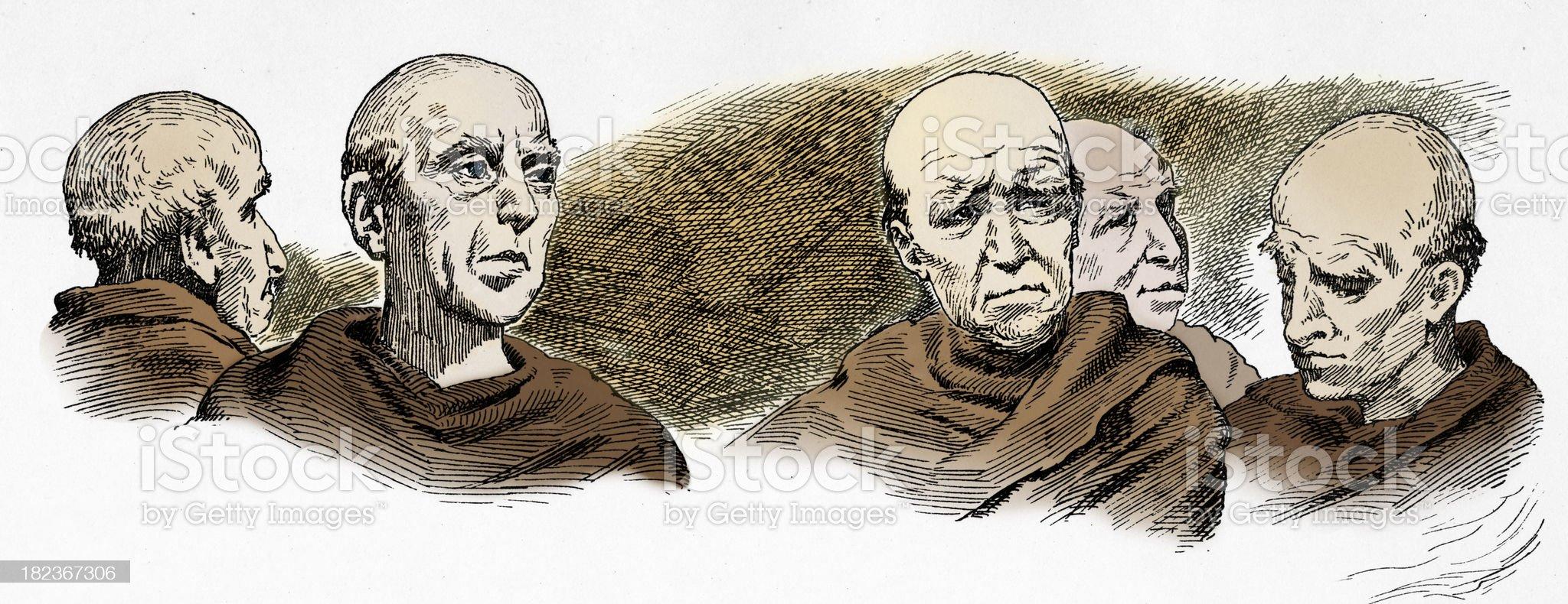 Monks royalty-free stock vector art