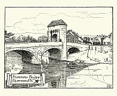Monnow Bridge, Monmouth, Wales, 19th Century