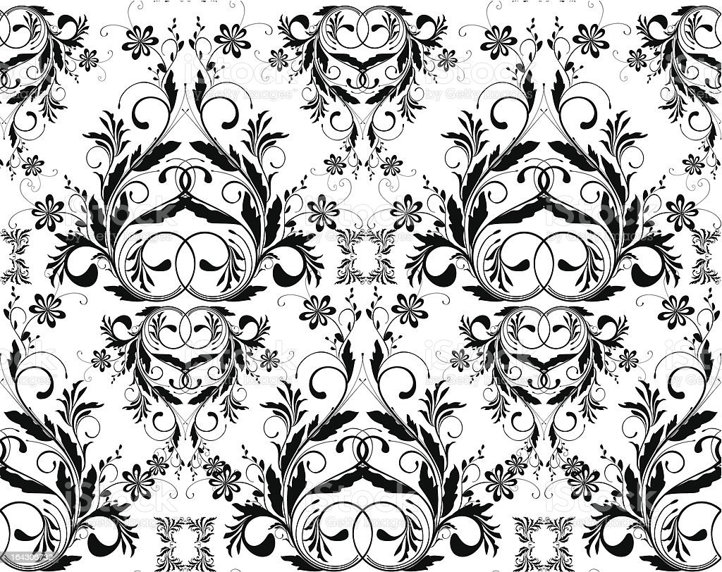 monochrome seamless wallpaper vector art illustration
