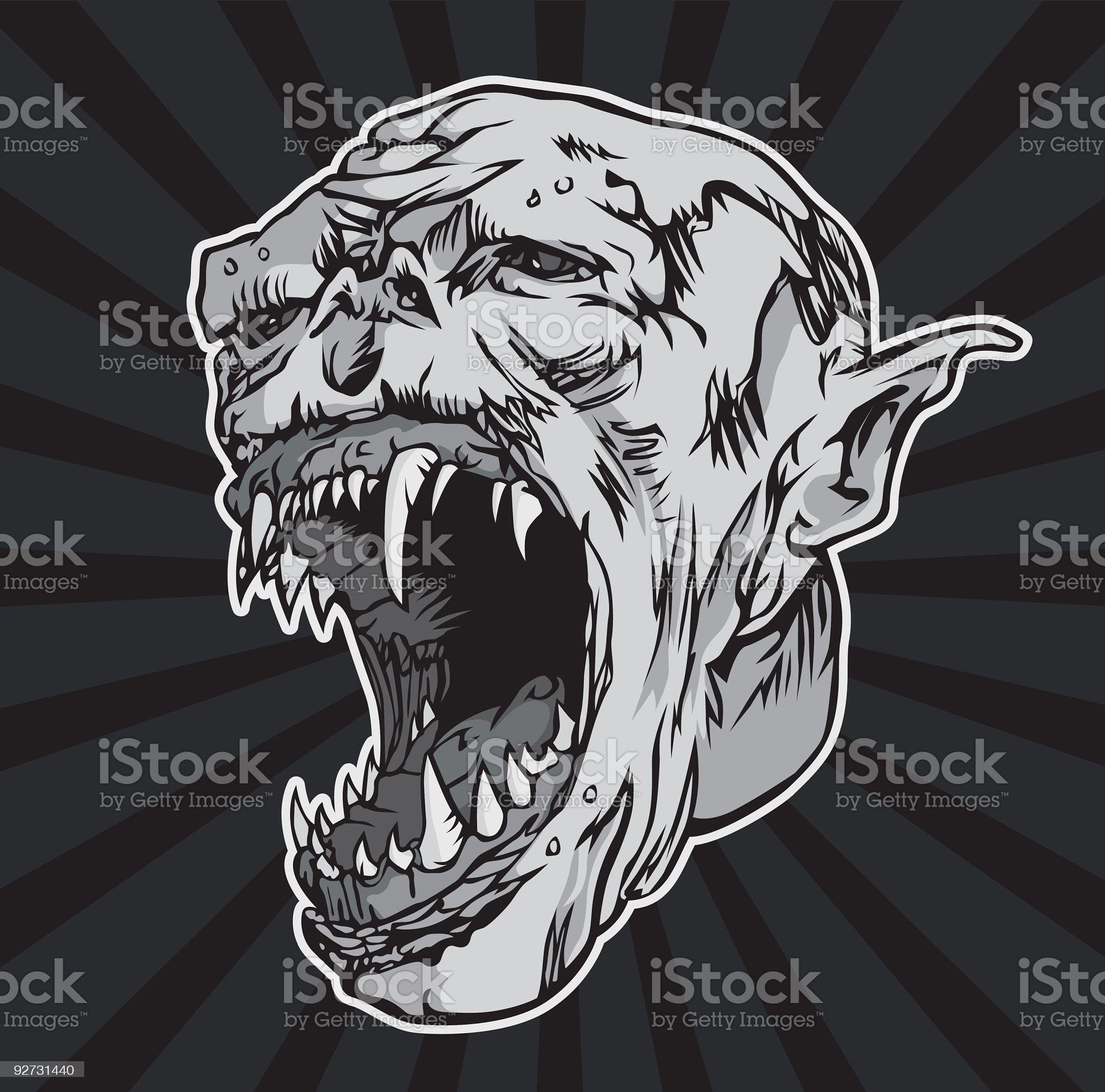 Monster Scream royalty-free stock vector art