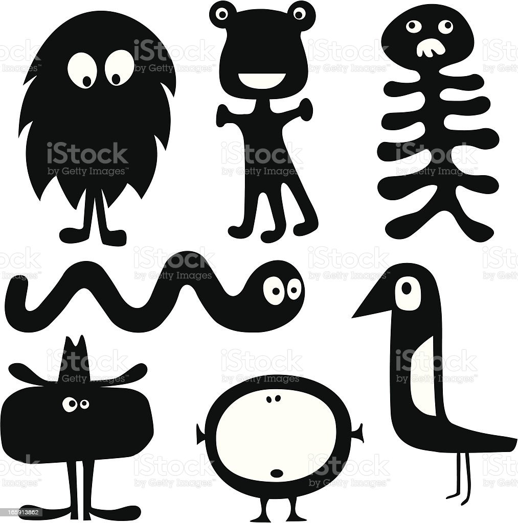 Monsters royalty-free stock vector art