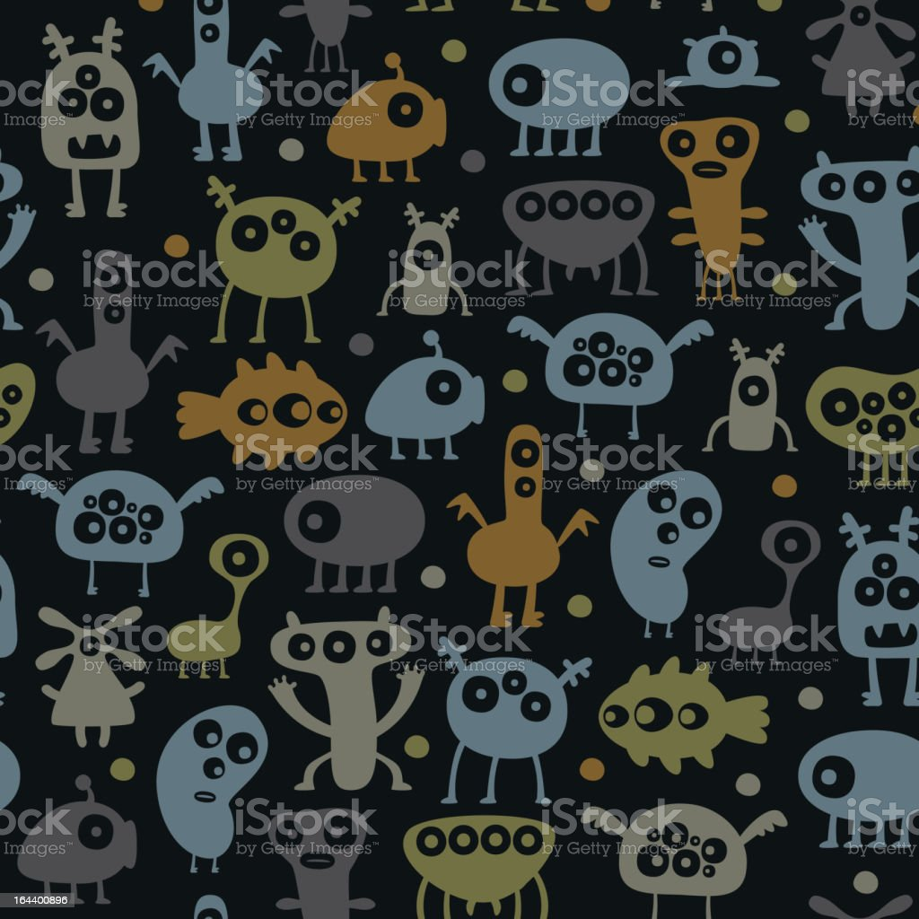 Monsters pattern royalty-free stock vector art